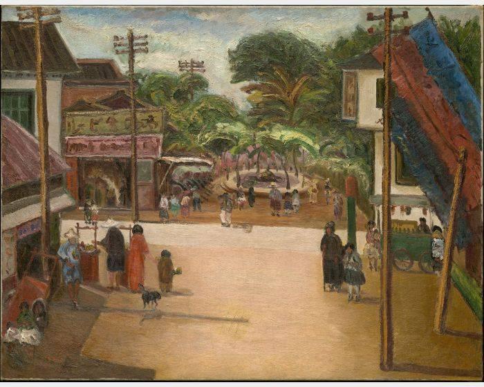陳澄波-嘉義街中心 Downtown Chiayi
