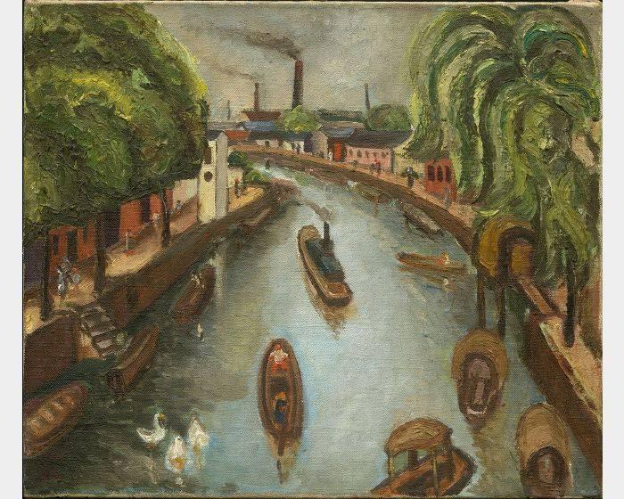 陳澄波-運河 Canal