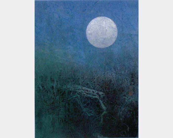 劉國松-清晨的月亮