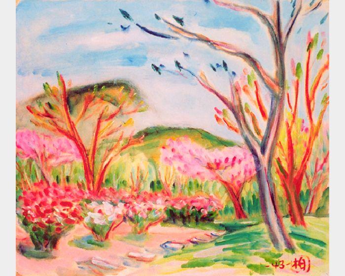 郭柏川-陽明山櫻花