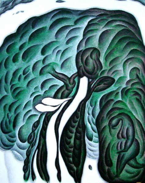 鄭建昌-當我經過站起來的土地 看見舞動的神木