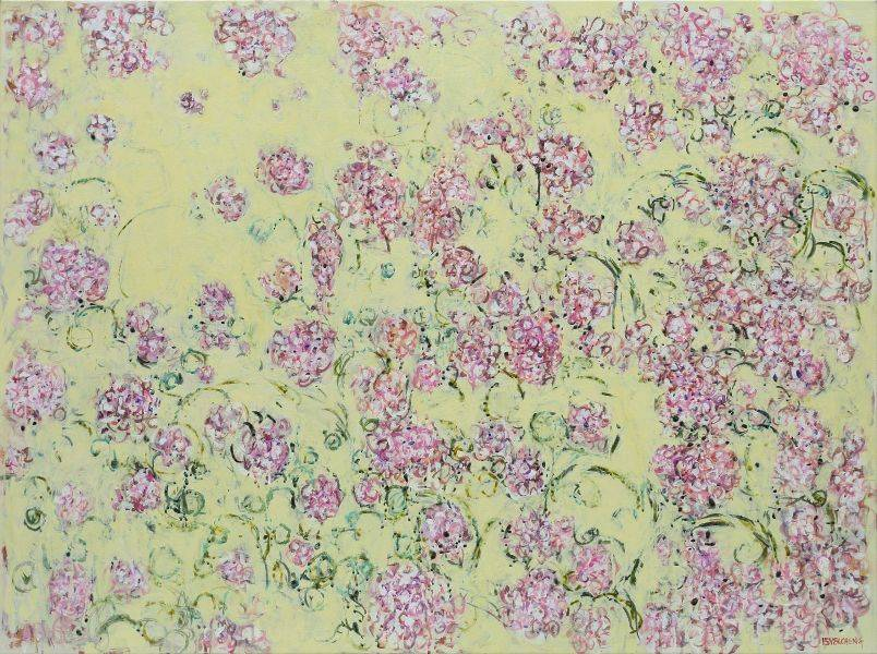 顏貽成-微風花草-1526