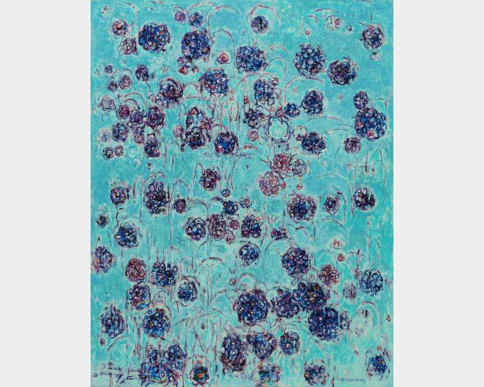 顏貽成-微風花草-1513