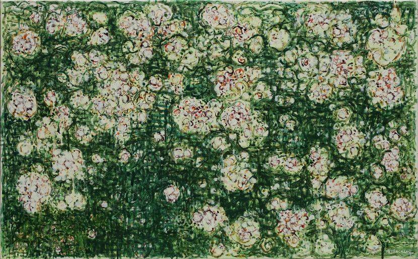 顏貽成-微風花草-1604