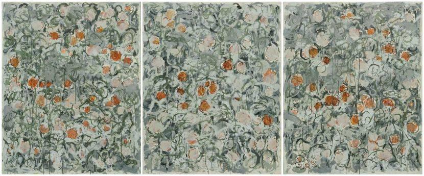 顏貽成-微風花草-1657