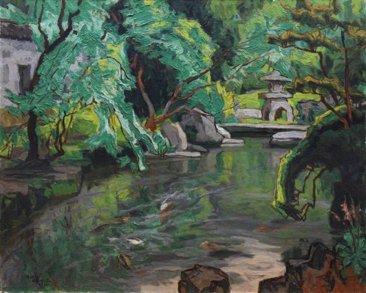 石川寅治-新緑的庭院