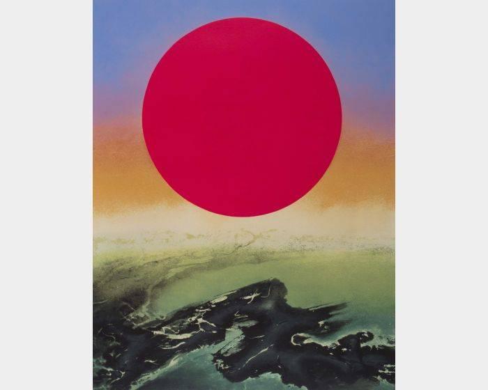 劉國松-發紫的太陽