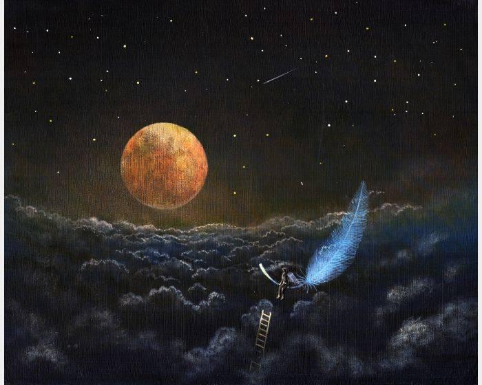 海至-紅月羽毛
