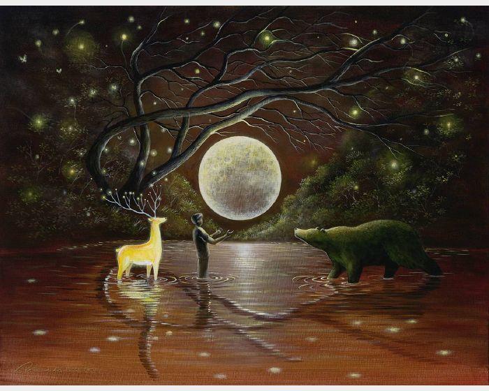 海至-光鹿月亮平安熊