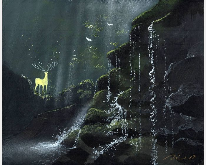 海至-水從上流下,光從上灑下