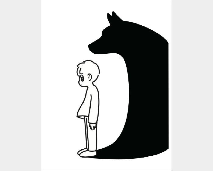 消極男子-黑狗