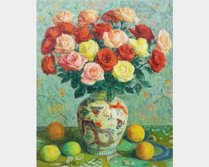 李石樵-玫瑰花(2) Roses.II