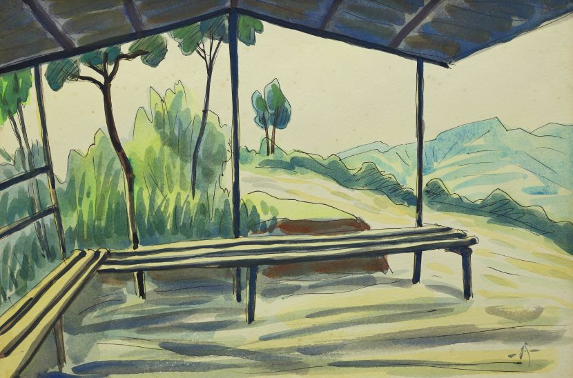 蕭如松-涼亭(北埔鄉面盆寮) Pavilion