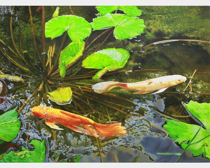 林嶺森-悠遊雙鯉 Koi