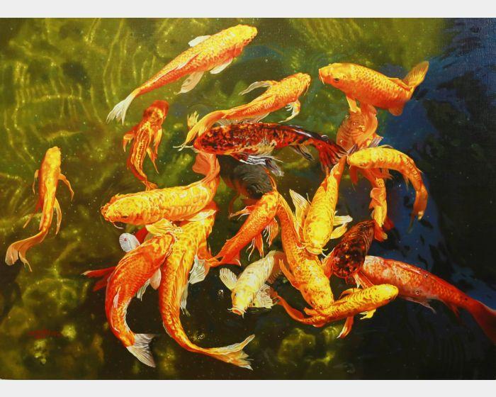 林嶺森-水光錦鯉之三 Koi
