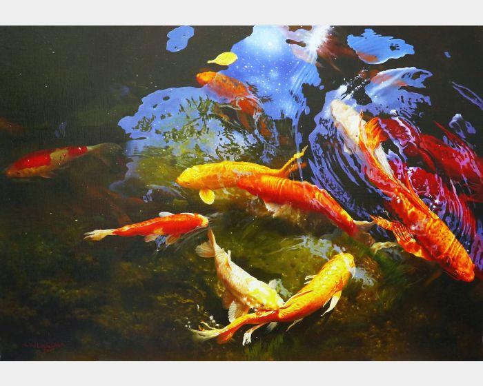 林嶺森-水光錦鯉 Koi