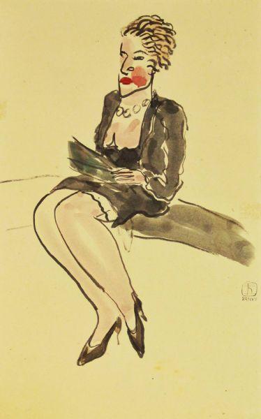 常玉-巴黎女子 Parisian woman