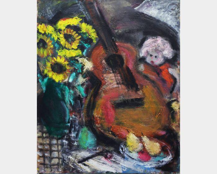 張萬傳-吉他與花 Guitar and flowers