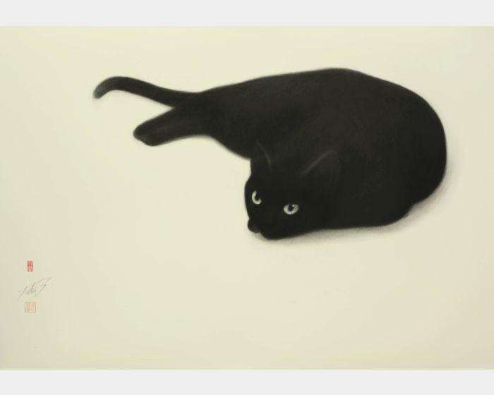 高橋行雄-黑貓 Black cat