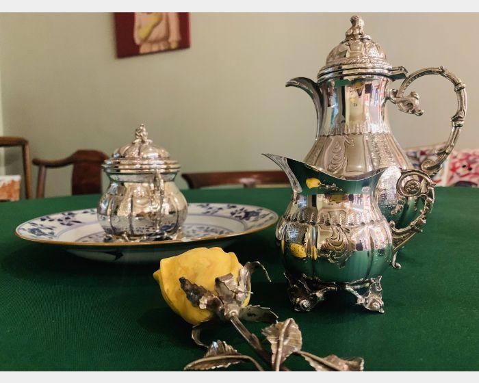 二十世紀銀茶組與茶葉罐