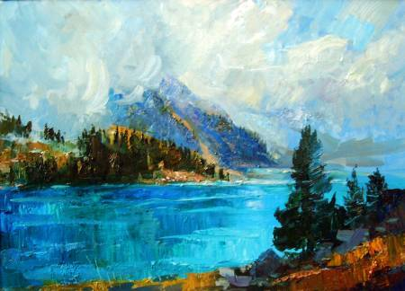 Pavel Veselkin-Clouds over the Big Lake