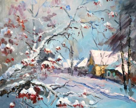 Pavel Veselkin-Guelder rose in snow