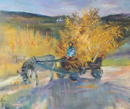 Pavel Veselkin-Carriage with corn. Moldova