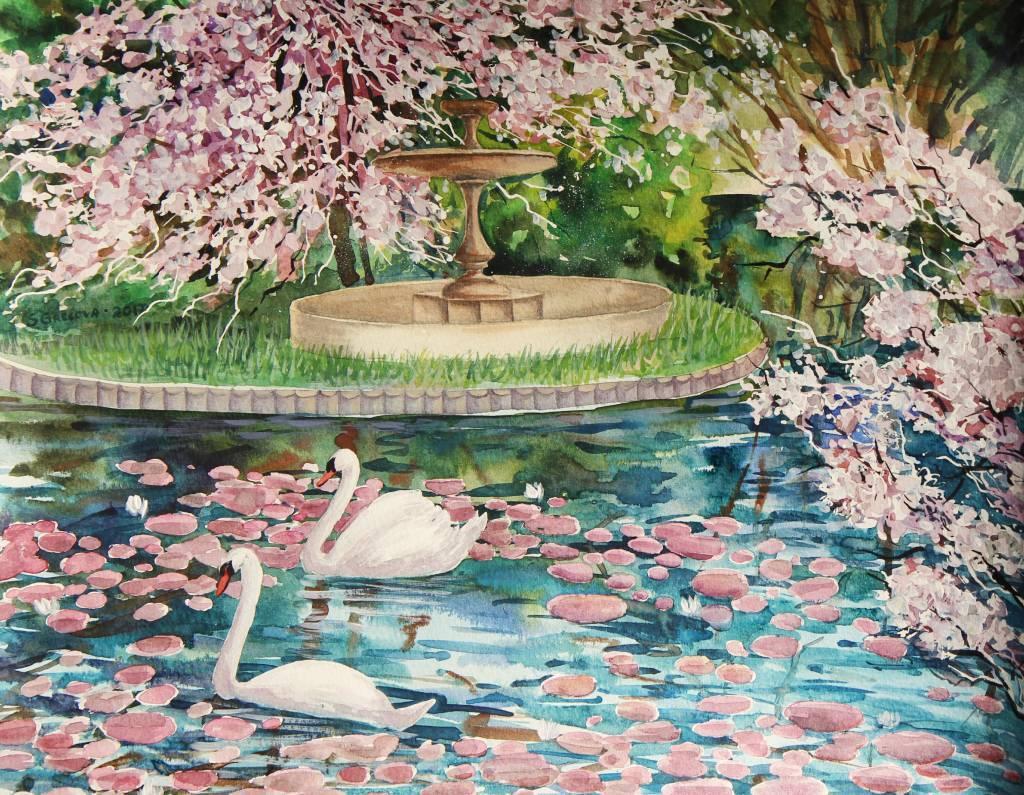 葛拉娜 - spring in the garden