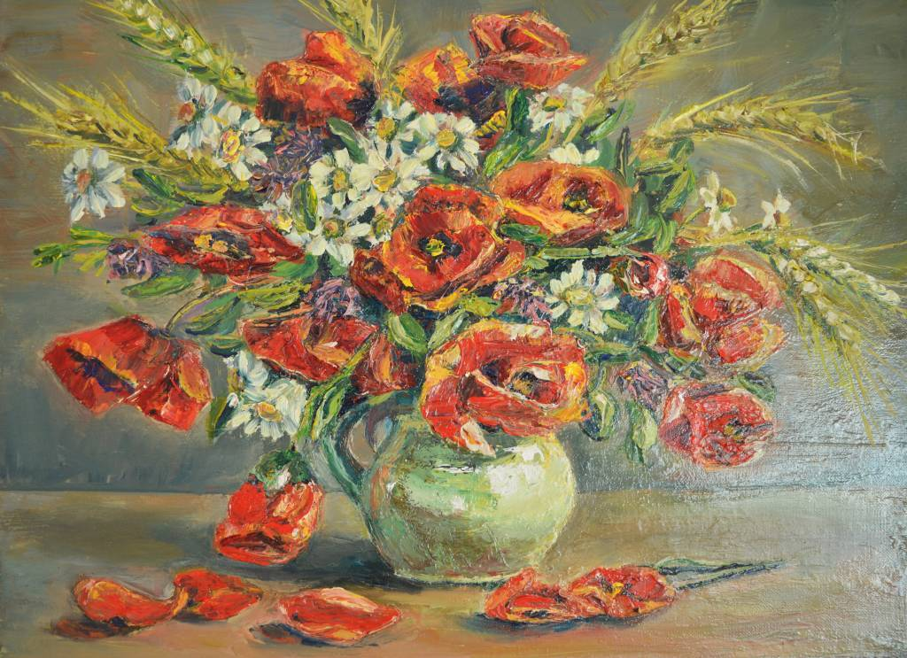 Marta Shein - Still Life with poppies