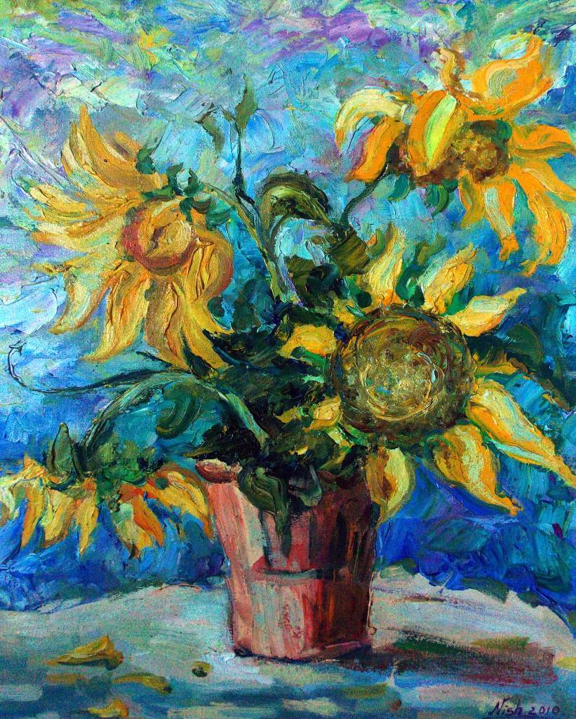 Natalia Nysh - Furry sunflowers