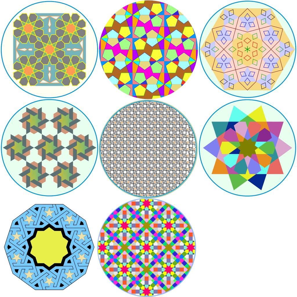 林家齊 - 幾何圖樣陶瓷杯墊 A組 (8入)