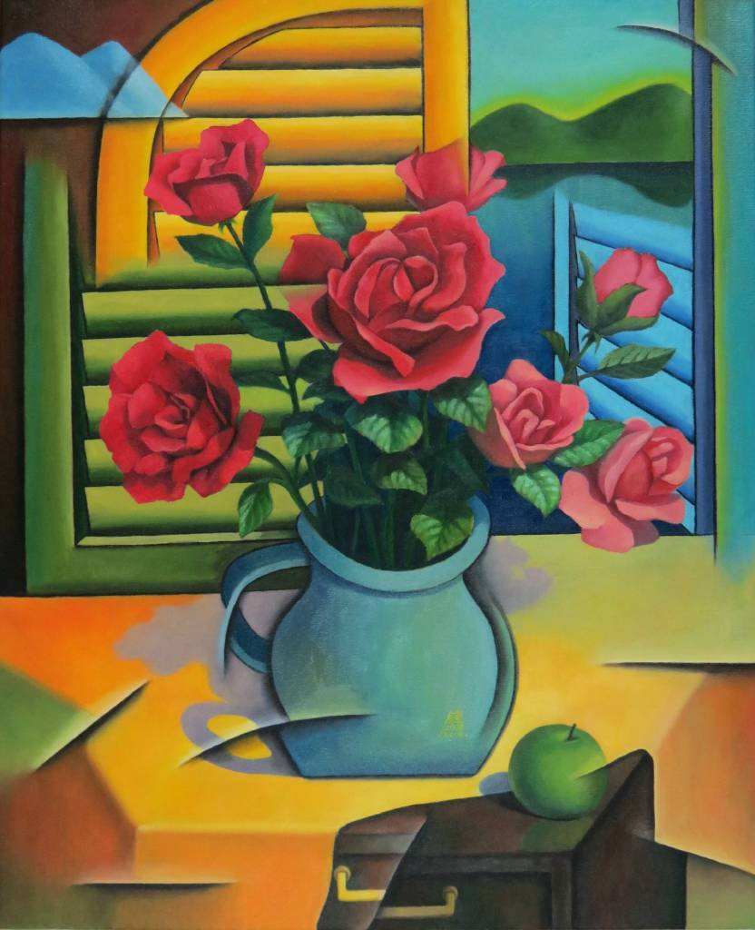 鍾功哲 - 窗前紅玫瑰