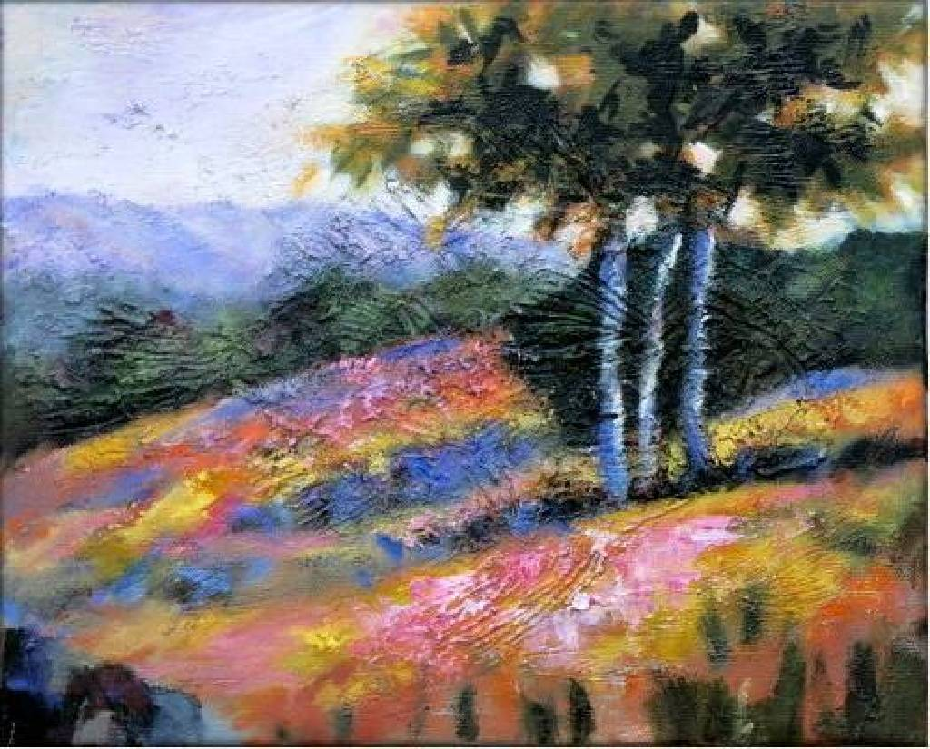 Vanessa - Abstract Landscape oil painting # 4