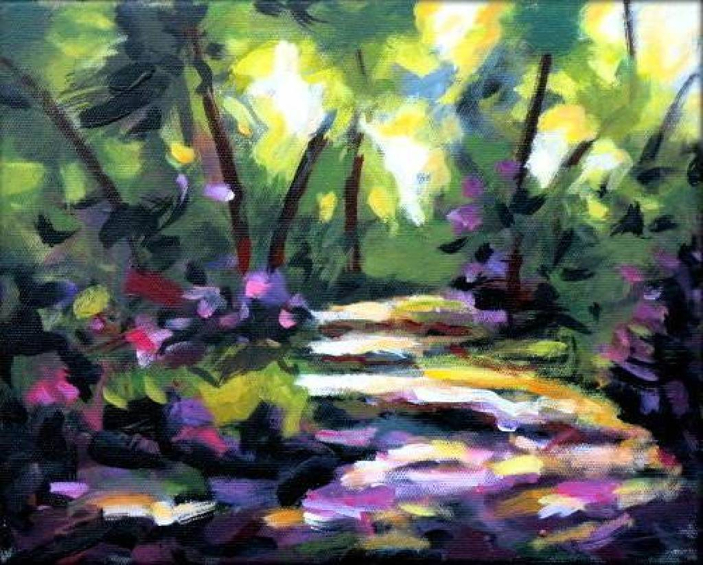 Vanessa - Abstract Landscape oil painting # 2