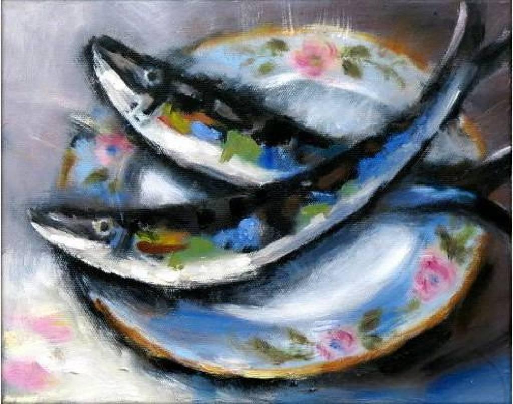Vanessa - 年年有餘 oil painting #7