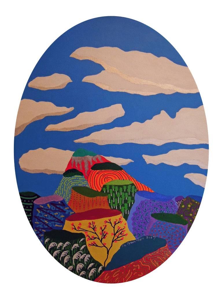 盧俊翰 - 鵲⼦山⼩景圖