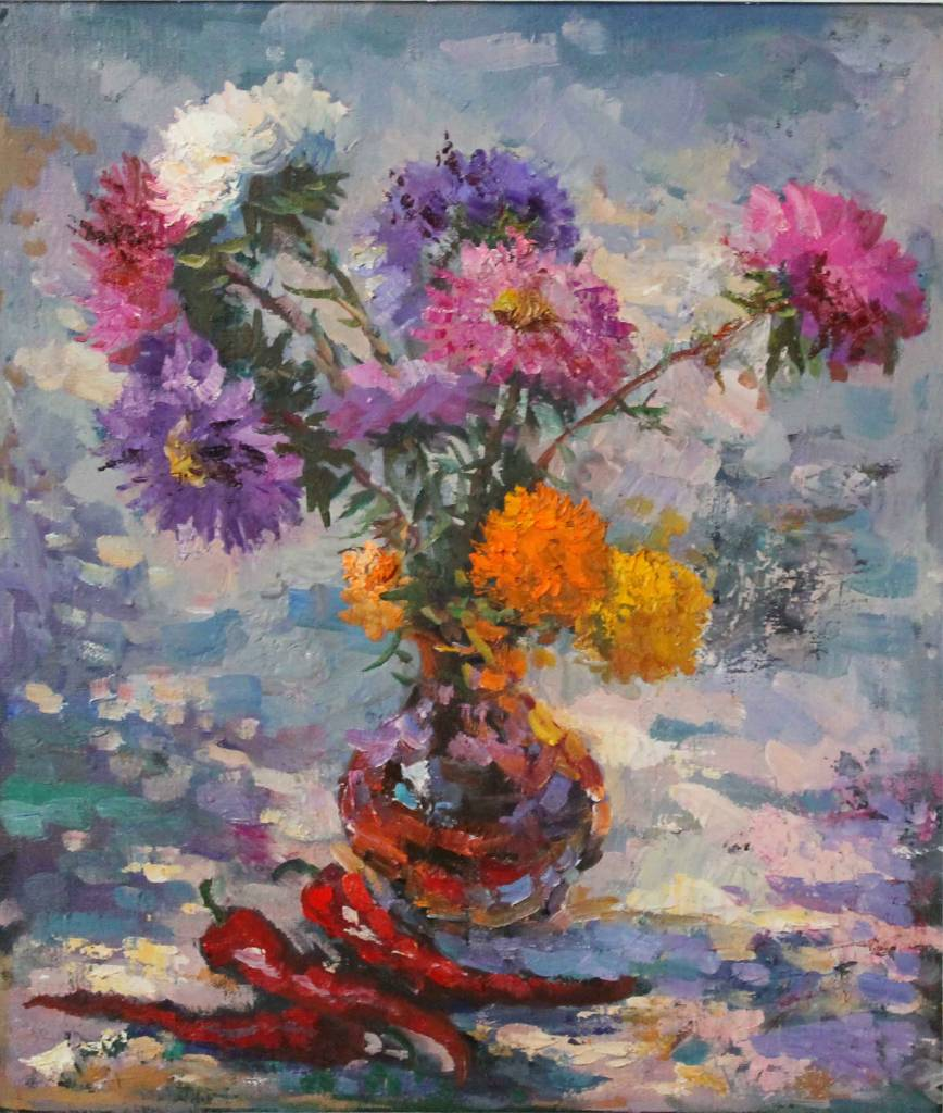 Pavel Veselkin - Asters and peppers