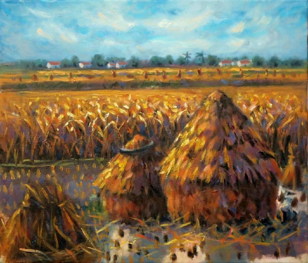 Vanessa - 豐收 Harvest  oil painting # 18