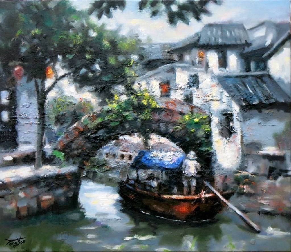 Vanessa - 水鄉風情 oil painting # 12