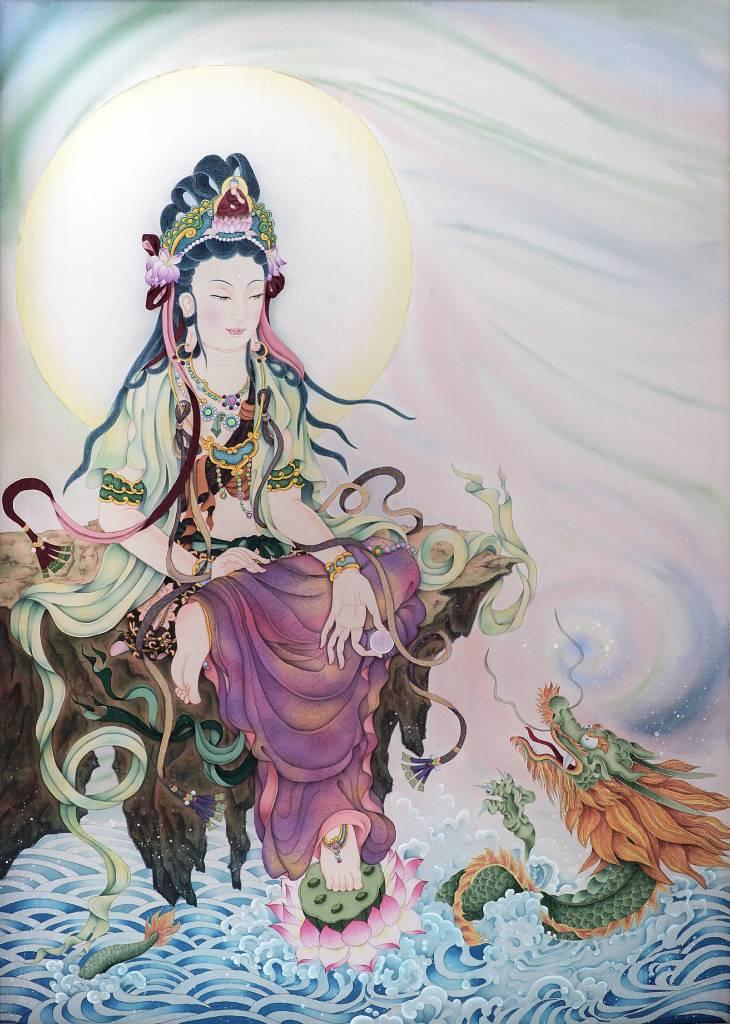傳意菩提 - 戲龍觀音  畫師:迴香