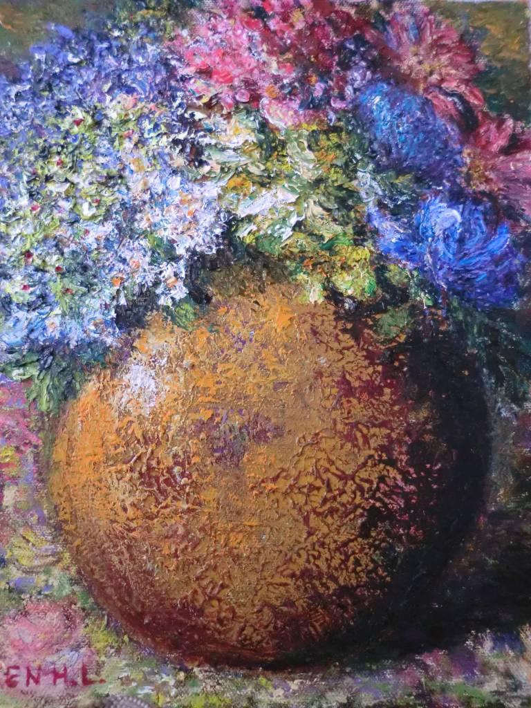 薈伶 - 有花的陶器