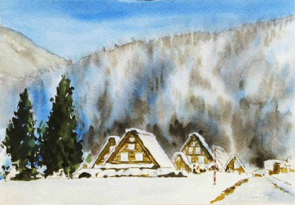 王素 - 合掌村冬雪