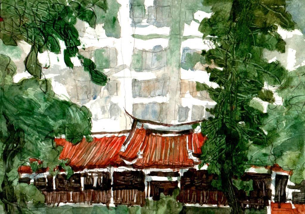 林致維 - 大雨中的吳園