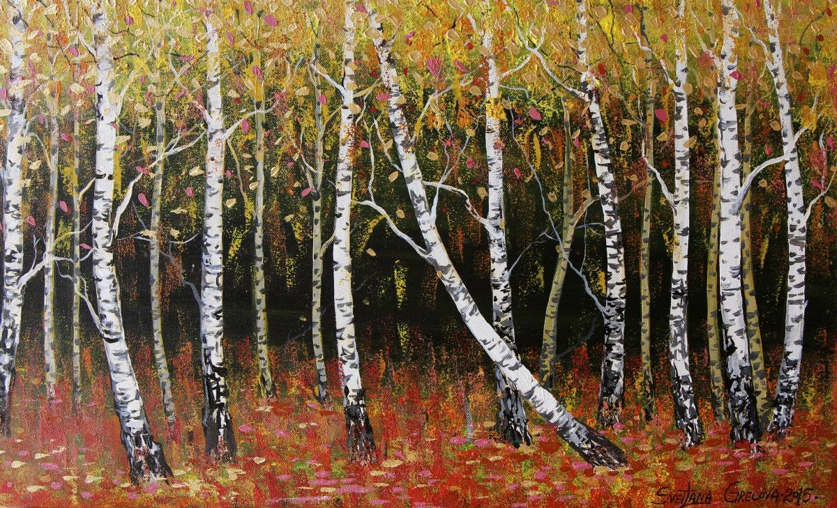 葛拉娜-Birches, Autumn
