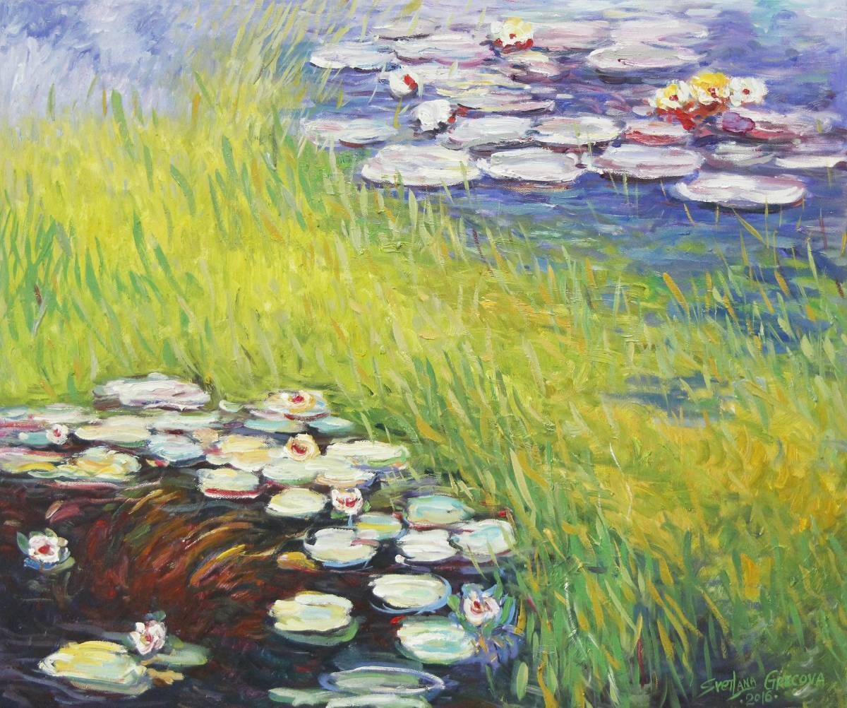 葛拉娜-Water lilies, inspired by Monet