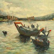 黃昏淡水河