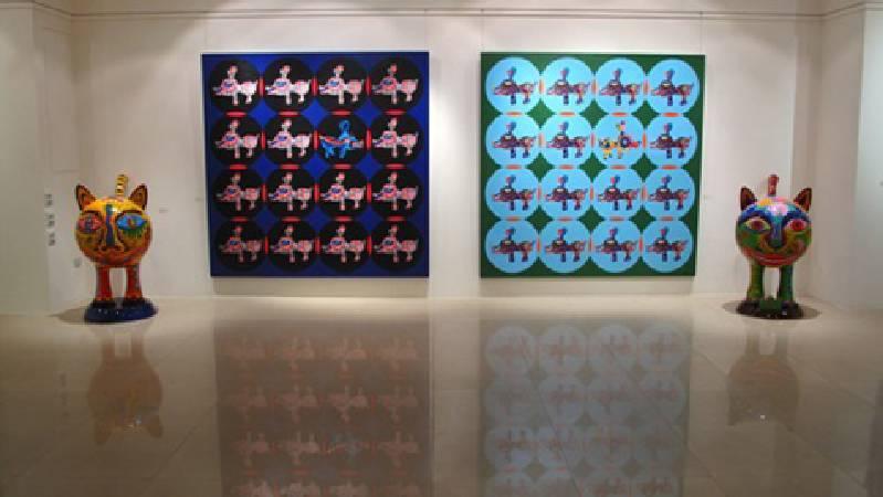 洪易 Q虎與平面作品 2009