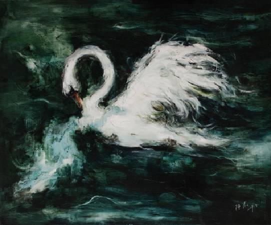 陳蔚 天鵝01 布面油畫 100x120cm 2009