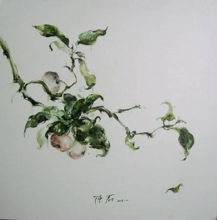 陳蔚 果熟無禽三 布面油畫 60x60cm 2008
