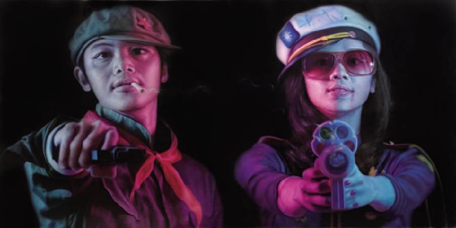 羅展鵬 草莓族大亂鬥 194×194cm×2 2009